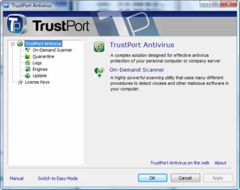 скриншот TrustPort Antivirus USB 2011