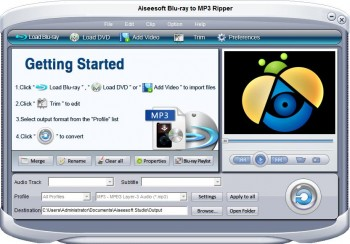 скриншот Aiseesoft Blu-ray to MP3 ripper