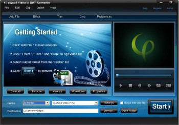 скриншот 4Easysoft Video to SWF Converter