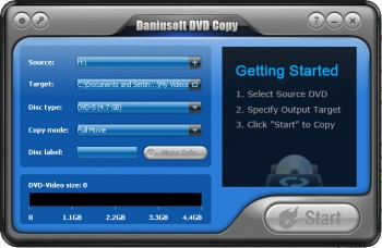 скриншот Daniusoft DVD Copy