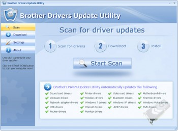 скриншот Brother Drivers Update Utility