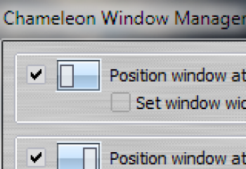 скриншот Chameleon Window Manager