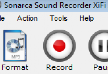 скриншот Sonarca Sound Recorder XiFi