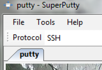 скриншот SuperPutty