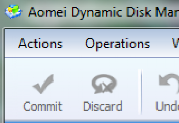 скриншот Aomei Dynamic Disk Manager Home Edition