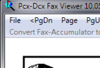 скриншот Pcx-Dcx Fax Viewer