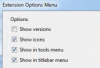 фото Extension Options Menu  2.1