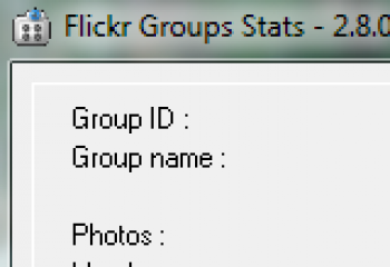 скриншот Flickr Groups Stats
