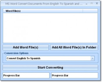 скриншот MS Word Convert Documents From English To Spanish and Spanish To English Software