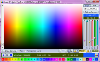 скриншот Asger-P's Color Picker Pro