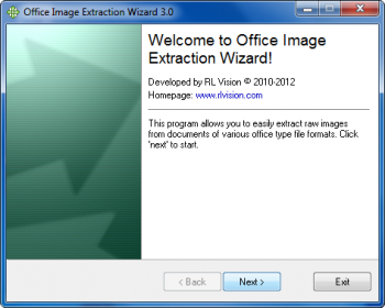 скриншот Office Image Extraction Wizard