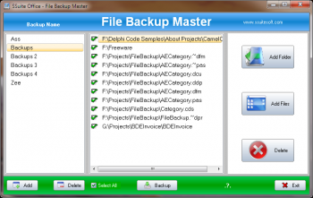 скриншот SSuite Office - File Backup Master