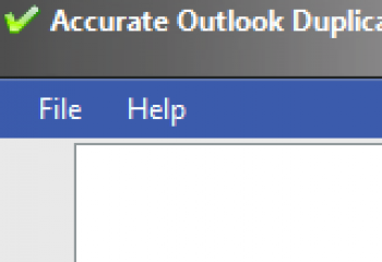 скриншот Accurate Outlook Duplicate Remover