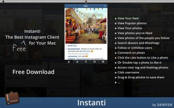 скриншот Instanti for Instagram
