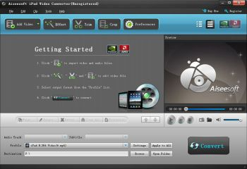 скриншот Aiseesoft iPad Video Converter