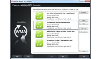 скриншот Freemore WMA to MP3 Converter