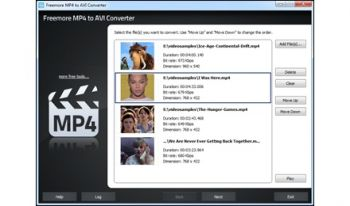 скриншот Freemore MP4 to AVI Converter