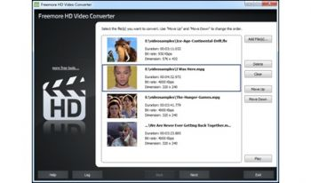скриншот Freemore HD Video Converter